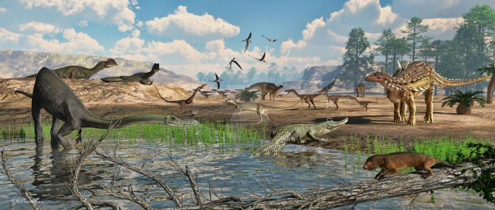 Terrestrial Fauna of the Kayenta Formation by PaleoGuy