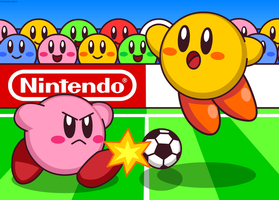 Kirby Play Soccer by Kittykun123