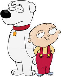 Brian and Stewie in Ed, Edd n Eddy style by ColossalStinker
