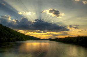 Arkansas River Sunset HDR by joelht74