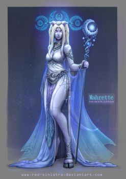 WoW AU - The Moon Goddess by Red-Sinistra