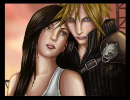 Cloud and Tifa by crybaby-1990