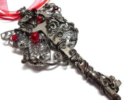 Love's Wings Key Necklace by sojourncuriosities