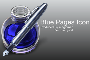 Pages Icon Blue by magicmac