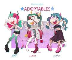 Demon girls adoptables [Open 3/3] by gobithedogsadopts