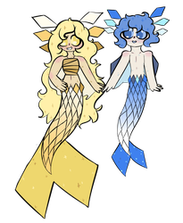 Starry Mermaids by GwendolynSavetts