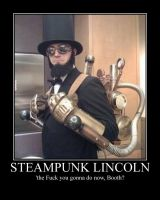 Steampunk Lincoln Motivational by CountVonZeppelin