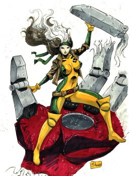 DRAGONCON 2017 COMMISSIONS: 90's Rogue (2) by Shono