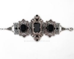 Gothic bracelet with black swarovski