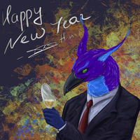 Happy New Year 2018 by gryphon1