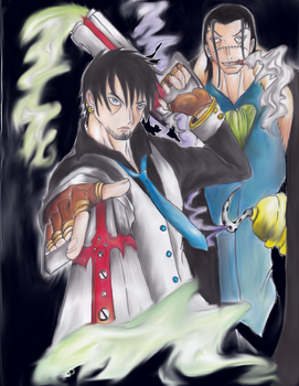 Castiel and Crocodile by Darkmoonlady07