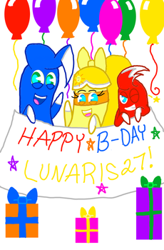 (Surprise) Happy Birthday Lunaris27  by SweetiePie17