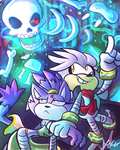 SaNiC HaLlOwEeN #1: Spoopy Scary Skeletons by Blossom-fur7