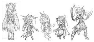 Fae Tribes by LutesWarmachine