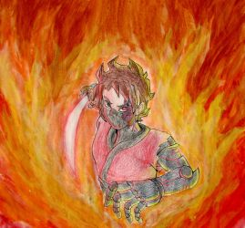 Ican'tpaintonpaper that cyborg ninja rage mode by AnfelMeva