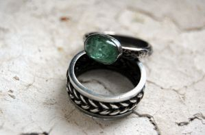 Ring silver sterling with berill by honeypunk