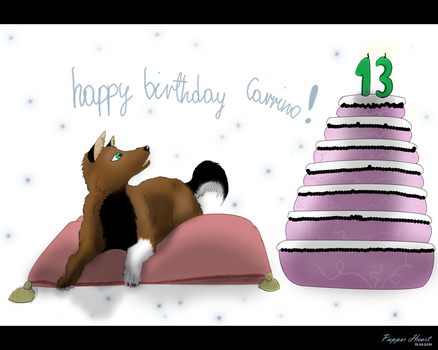 : Happy B-day : by PapperHeart