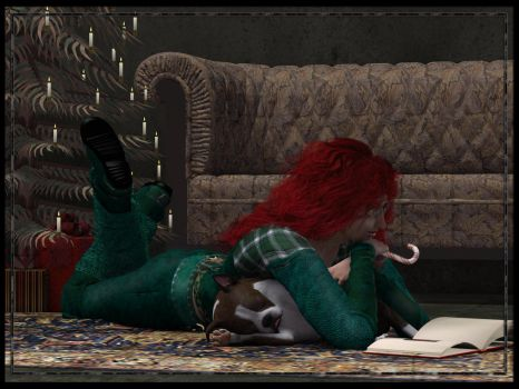 Reading The Night Before Christmas by Wayii