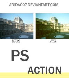 Photoshop Action: 2 by Adida007