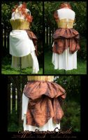 Steampunk Bustle : copper by taeliac