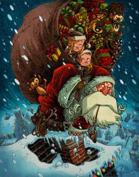 Santa Stowaways by RobbVision