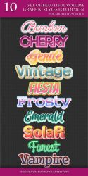 A Beautiful Volume Styles for Adobe Illustrator by Love-Kay