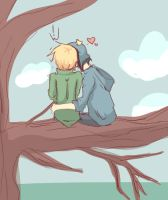 Craig and Tweek sittin' in a tree by DoodleSauce