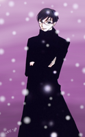 Kyoya in the Snow by CryssieD