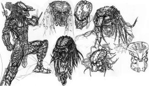 Predator Random Sketches by ButtZilla