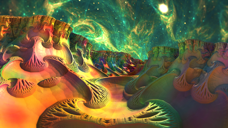 Calming, Colorful, Space Surf by Swoopswatkill