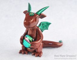 Bronze and Green Dichro Dragon by HowManyDragons