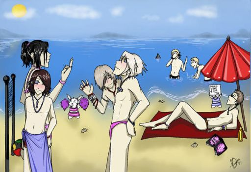 FF12 On da beach by Godess-Nikita-Chan