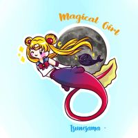 Mermay Day 9 - Magical girl ~ by Tsunesamaa