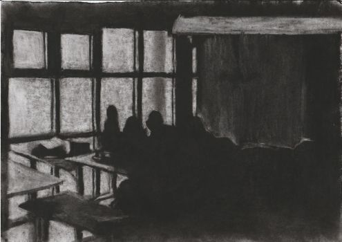 Light and Shadow Study - Charcoal Sketch #2 by FilipaPT