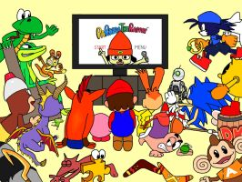 Cartoon Video Game Palooza by PaperBandicoot