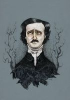 Edgar Allan Poe by viowl