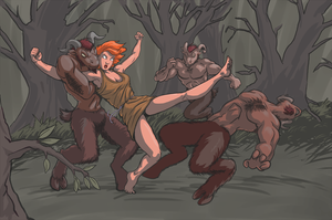 Dark Satyrs by MajorKiz