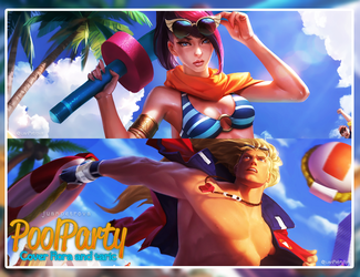PooL Party Facebook Cover by Luunatico