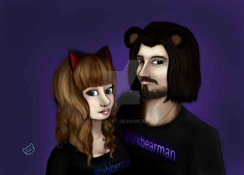 2 Year Anniversary Blabbercat and Darkbearman by Blabbercat