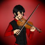 Konvickill Playing Violin (My OC) by toriegarcia89