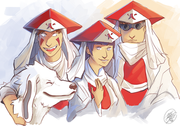Team 8 Hokages by NillaKiwi