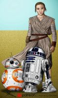COMMISSION Star Wars VII The Force Awakens by YaggyDigital