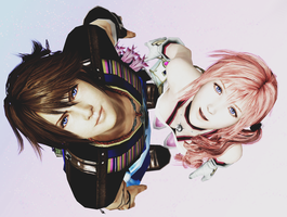 Noel and Serah by mizukimarie