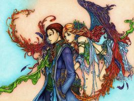 Copic Coloring - Fairies 2 by winry7405