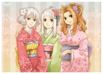 Three beauties by meago