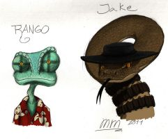 Rango and Jake by Mickeymonster