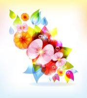 Abstract-Colorful-Flowers by vectorbackgrounds