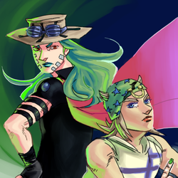 JJBA - gyro and johnny by weaselyperson