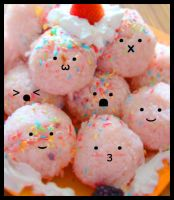 Pink Onigiri by lunascissorhands