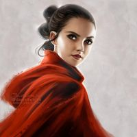 Star Wars the Last Jedi: Rey by daekazu